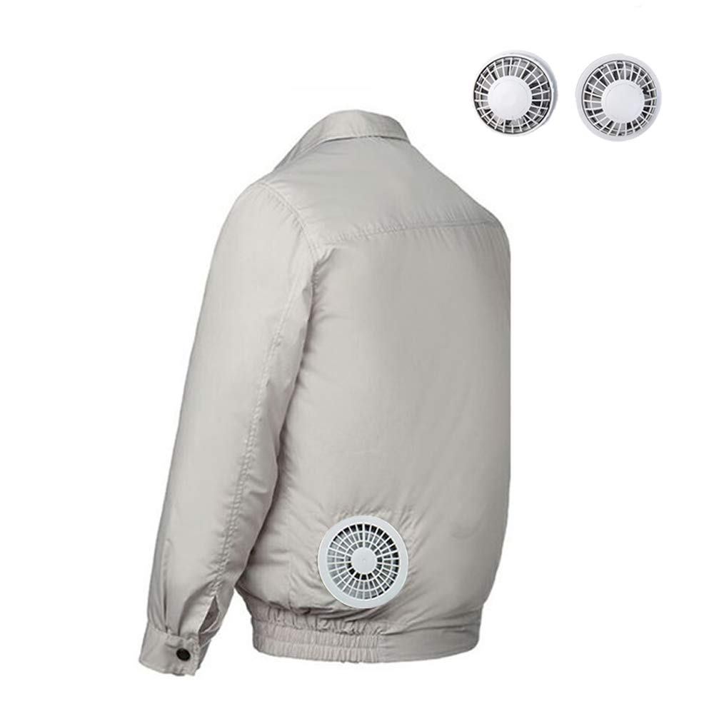 HomeYoo Cooling Jacket Fan, Air Conditioned Clothes, Lightweight Sunscreen & Windproof Jacket/Coat for Summer Outdoors Unisex