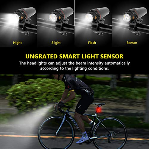 Road GOGOTIT Bike Lights Front and Back Rechargeable LED COB Side ...
