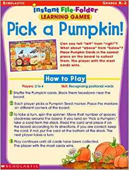 Instant File Folder Learning Games: Pick a Pumpkin