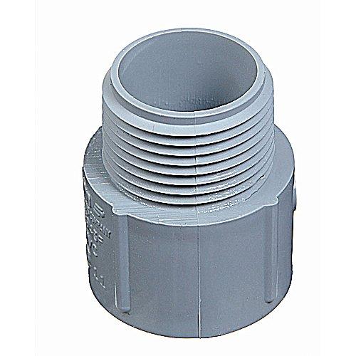 THOMAS & BETTS/CARLON E943D10-UPC Thomas & Betts E943D10 Terminal Adapter, 1/2 In Rigid, Male Thread X Socket, Sch 40, Pvc
