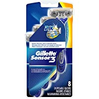 8 Count Gillette Sensor3 Smooth Men's Disposable Razors