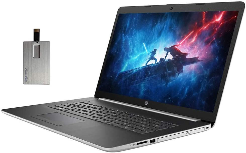 "2020 HP Pavilion 17.3"" FHD Laptop Computer, 10th Gen Intel Core i5-1035G1, 16GB RAM, 1TB SSD, Backlit Keyboard, Intel UHD Graphics, HD Audio, HD Webcam, Windows 10, Silver, 32GB SnowBell USB Card"