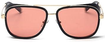 DP Design® Gafas de sol Steampunk, disfraz de Iron Man / Stark / Aviador, con cristal UV400 OIM05