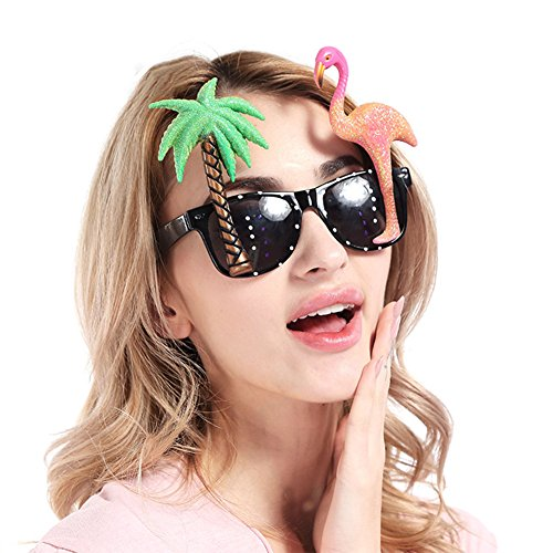 Leoie Funny Flamingo Design Glasses Kids Gift Photo Booth Props Halloween Beach Party Decoration -