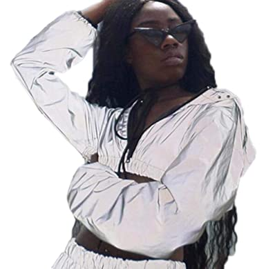 Babao Mujer Chaqueta Luminosa Blusas Reflectantes: Amazon.es ...
