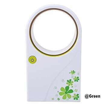 Keelied Mini Fan Blattloser Ventilator   Mini USB Oszillations Ventilator  Büro/im Freien/Baby/Kinder (Grün) (Grün): Amazon.de: Baumarkt