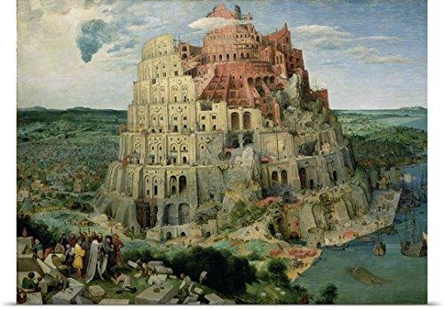 Pieter the Elder (1525-1569) Bruegel Poster Print entitled Tower of Babel, 1563 (oil on panel) (for details see 93768-69, 186437-186438)