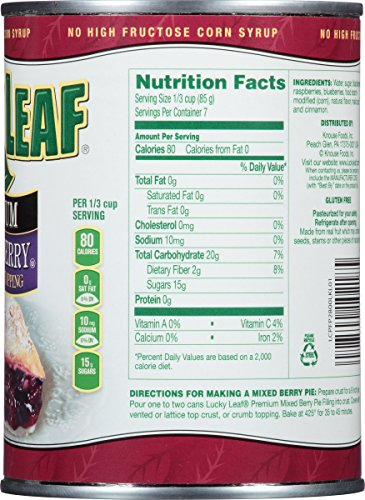 Lucky Leaf Premium Mixed Berry Fruit Filling & Topping, 21 Ounce (Pack of 8) by Lucky Leaf (Image #2)