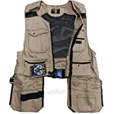 Men Work Vest Pockets Utility Vest Tool Pockets Pro Black, Brown, Khaki, Yellow