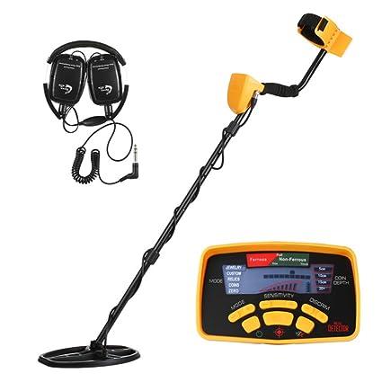 WoLoYo Detector De Metales Profesional, con Alta Sensibilidad, Pantalla LCD con Auricular, para
