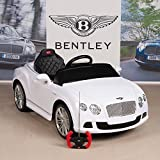 Bentley GTC 12V Kids Ride On Battery Powered Wheels Car with RC Remote and Floor Mat, White