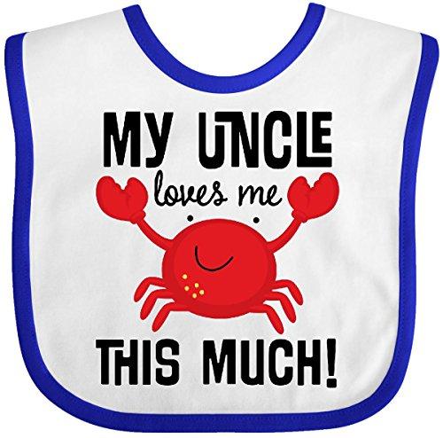 Crab Baby Bib (Inktastic - Uncle Loves Me Childs Crab Baby Bib White/Royal)