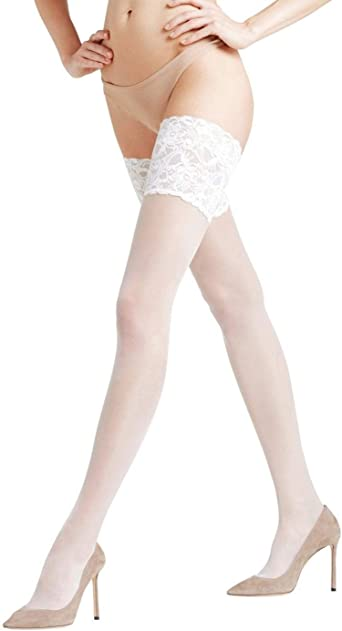 FALKE womens Seidenglatt 15 Stay-ups Pantyhose