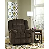 espresso kids recliner - Flash Furniture Signature Design by Ashley Ludden Rocker Recliner in Cocoa Twill