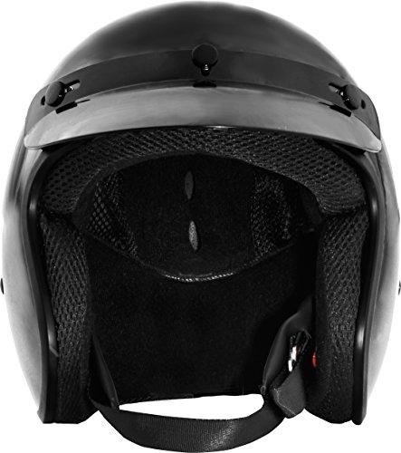 Fuel Helmets SH-OF0016 O5 Series Open Face Helmet, Gloss Black, Large by Fuel Helmets (Image #2)