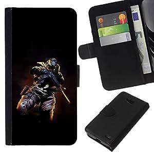 All Phone Most Case / Oferta Especial Cáscara Funda de cuero Monedero Cubierta de proteccion Caso / Wallet Case for LG OPTIMUS L90 // Skull Masked Terrorist
