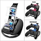 Dual-USB-Charging-Station-CEStore-LED-light-Fast-Two-Charging-Charge-Dock-Stand-with-USB-Charge-Cable-for-Microsoft-Xbox-One-XBox1-Gaming-Controllers