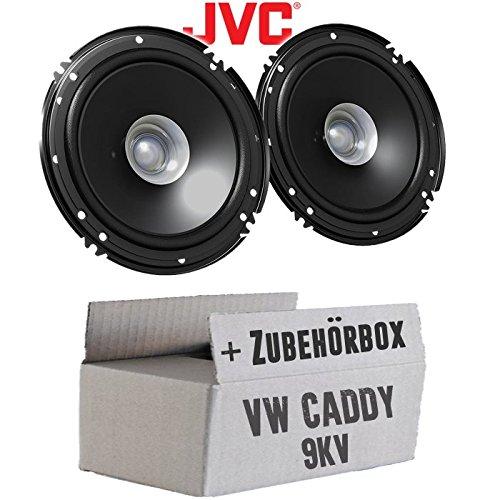 VW Caddy 9KV Front - Lautsprecher Boxen JVC CS-J610X - 16cm Auto Einbauzubehö r 300Watt Koaxe KFZ PKW Paar - Einbauset JUST SOUND best choice for caraudio VWCa9kv_CS-J610X