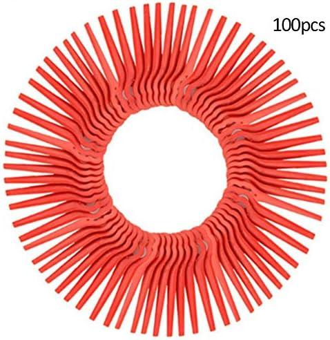 Luka 100ピースプラスチック草トリマーブレードガーデン芝生芝刈り機カッター交換アクセサリーツール