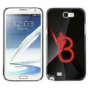 Be Good Phone Accessory // Dura Cáscara cubierta Protectora Caso Carcasa Funda de Protección para Samsung Note 2 N7100 // B