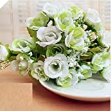Helen Zora Artificial Rose with 21 Flowers for Home Office Party Decor Wedding Scene Setting