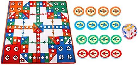 Injoyo 82 x 82 cm Play Baby Ludo Mat tapijt zacht campingdeken voor kinderen
