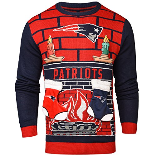 FOCO New England Patriots Ugly 3D Sweater - Mens Large by FOCO