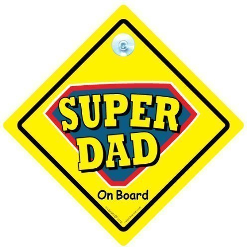 Car Sticker Baby on Board Sign Style Daddy Car Sign Super Dad on Board Superdad Car Sign Baby on Board Decal Super Dad Car Sign Bumper Sticker Father Car Sign Superdad Sign