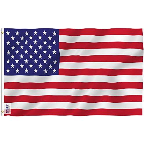 Anley Everstrong Series 3x5 Foot American US Flag - Rip Proof Technology for Longest Lasting - 300 Denier Tough Textile - USA Flags with Brass Grommets 3 X 5 Ft
