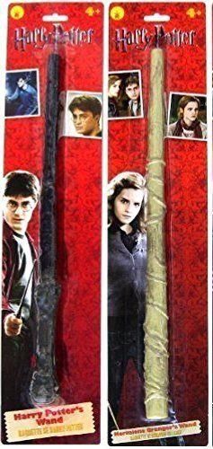 Hermione Wands (Bundle - 2 items: Harry Potter and Hermione Granger Magic Wands)