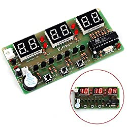 IS Icstation Digital Clock Soldering Project DIY Assemble Kit 6 Bits AT89C2051 DC 3V-6V C51 Science School Electronic Learning Creative Season Gift