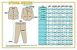 Spring Notion Big Boys' Modern Fit Dress Suit Set 7 Black w/Royal Blue Tie