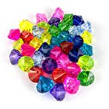 Acrylic Diamond Gems Artificial Jewels Pirate Treasure Home Decoration, Table Scatters, Vase Fillers, Wedding, Party, Birthday Decoration (45 pcs)