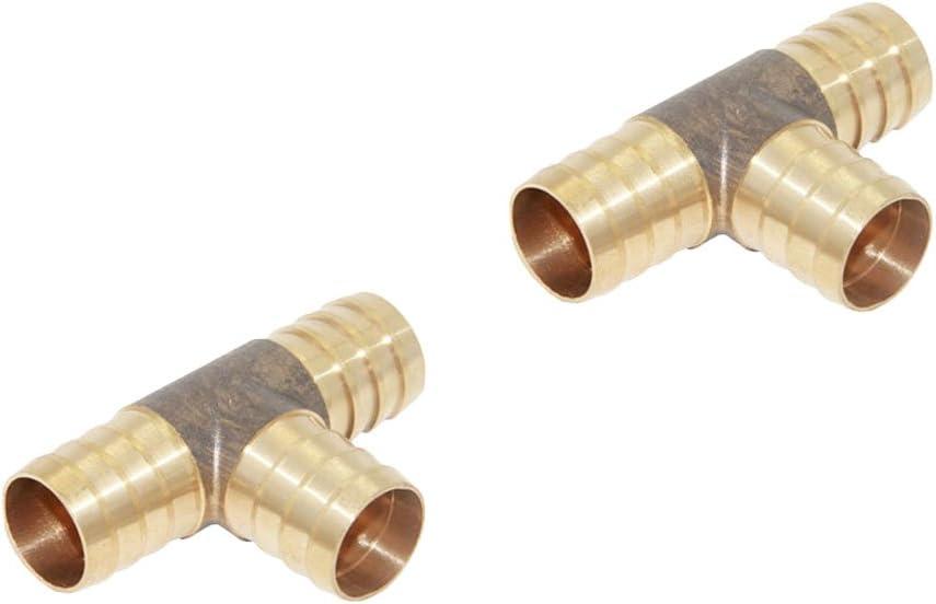 Blesiya 2pcs En Laiton Tuyau Connecteur T/é Joint 3 Voies Pour Lirrigation De Jardin Tuyau Darrosage Adaptateur Tube Pi/èces Outils 19mm