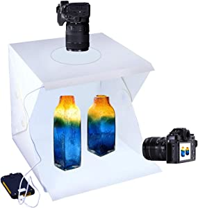 SENLIXIN Photo Studio Tent Jewelry Light Box Kit, Portable Foldable Home Photography Studio Light Box Booth Shooting Tent with LED Light Strips - with 2 Color Background