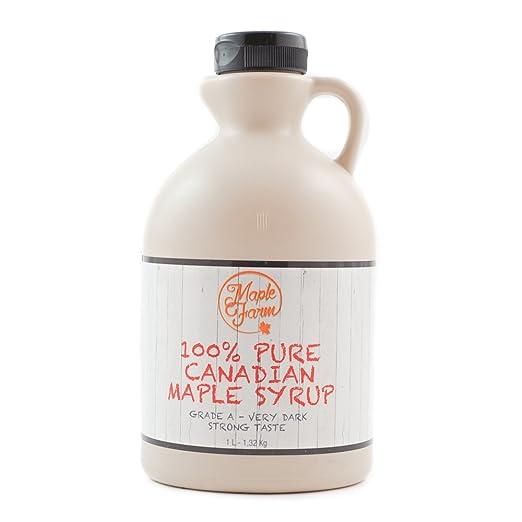 95 opinioni per Puro sciroppo d'acero Canadese Grado A (Very dark, Strong taste)- 1 litro (1,35