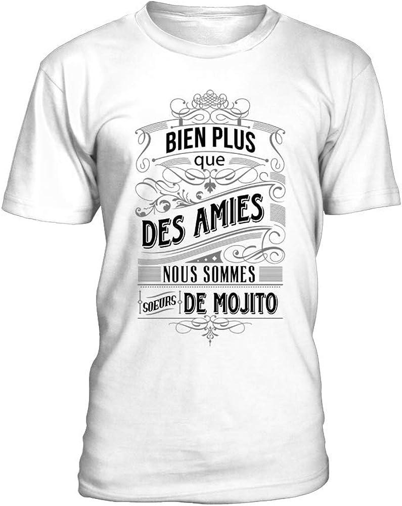 TEEZILY - Camiseta Mucho más Que Las Amigas Nosomes Hermanas de Mojito para Hombre Blanco S: Amazon.es: Ropa y accesorios