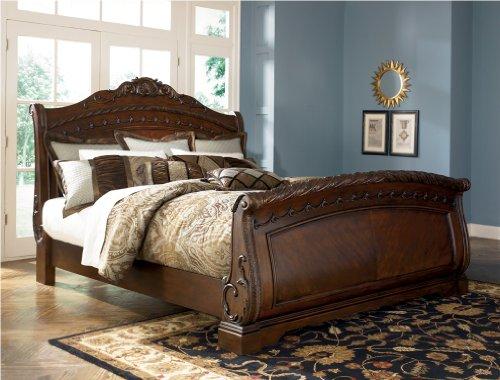 Ashley North Shore 5/0 Queen Sleigh Bed B553 ...Best Seller