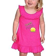 Tennis Freak Sport Cotton/Polyester Tank Ruffle Neck Girl Infant Dress