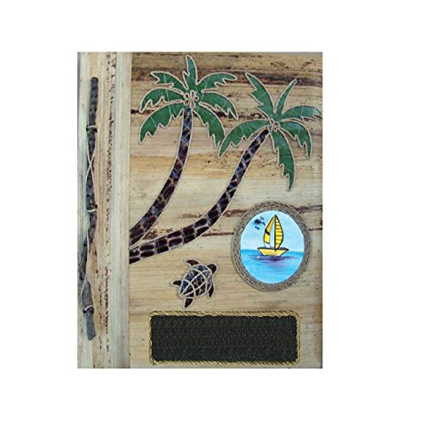 (Rockin Gear Palm Tree Photo Album - Banana Leaf Handcrafted Portrait Style Designer Photo Album and Art Scrapbook 9