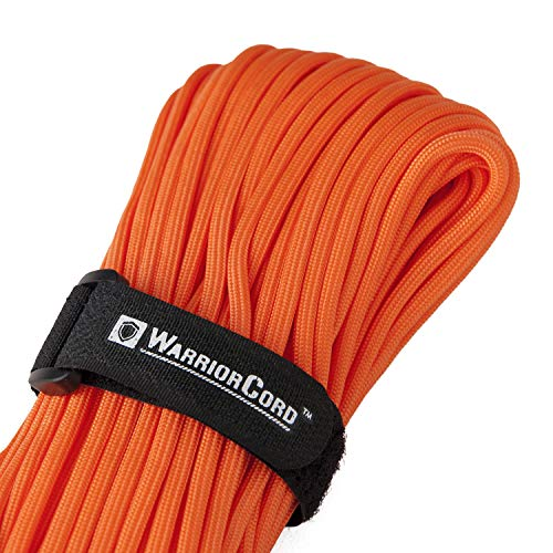 Titan WarriorCord | Safety-Orange | 103 Continuous FEET | Exceeds Authentic MIL-C-5040, Type III 550 Paracord Standards. 7 Strand, 5/32