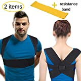 BodyMoves Back Posture Corrector for women & men- figure 8 back brace support for better back and lower back pain relief- premium upper back corrective therapy keep back straight under shirt (LARGE)