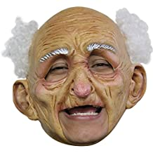 Ghoulish Funny Old Man Grandpa Chinless Theme Party Latex Halloween Costume Mask
