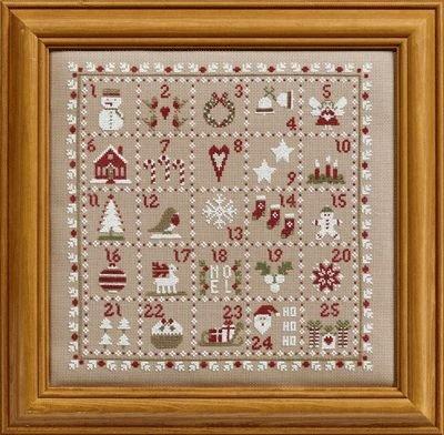 Historical Sampler Company Advent Calendar Cross Stitch Kit