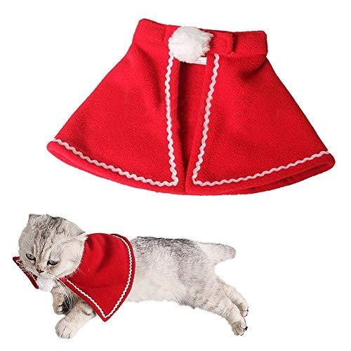 FidgetFidget Pet Dog Cat Cloak Cape Costume Fancy Dress Clothes for Christmas Halloween S]()
