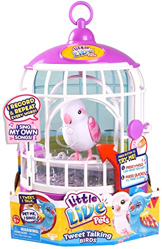 Little Live Pets Bird with Cage - Bella - Electronic Toy Bird