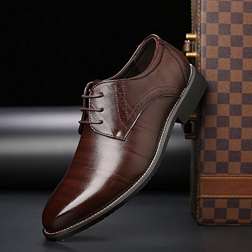 Upper Sunny lavoro Lace uomo 44 traspirante in da Fodere da Orange amp;Baby fodera all'abrasione Dimensione da Matte Scarpe uomo Brown Leather UE Up PU Resistente Classic Color rtq7nt