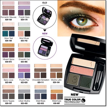 Avon True Color Technology Eyeshadow Quad