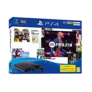 Consola PS4 SLIM - 500 GB Black Pack FIFA 21