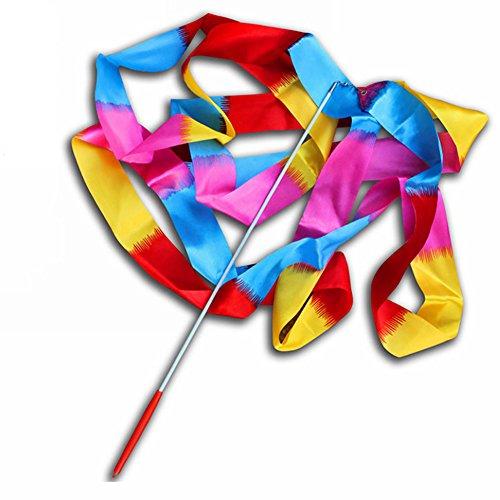 Yamalans - Cinta de danza y gimnasia rítmica, 4 m, Flame Colorful, Pequeño